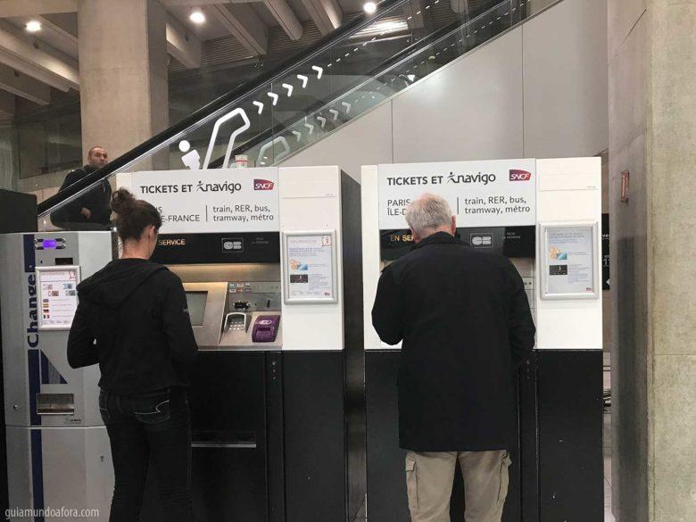 máquinas automáticas transporte em Paris