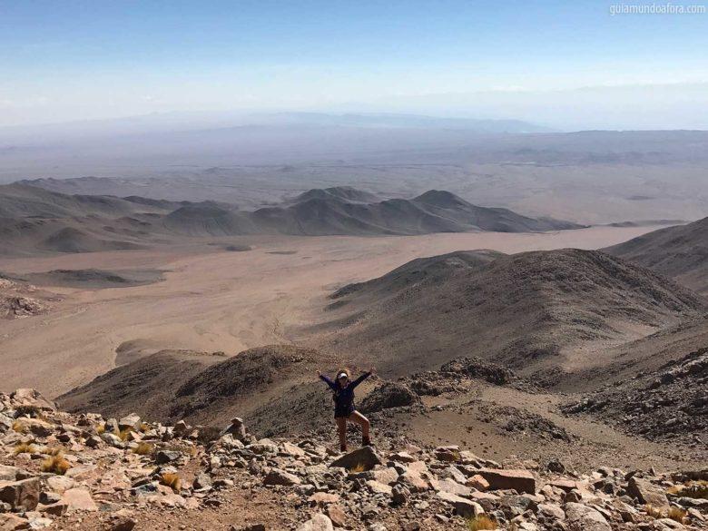 Topo no Cerro Quimal no Atacama