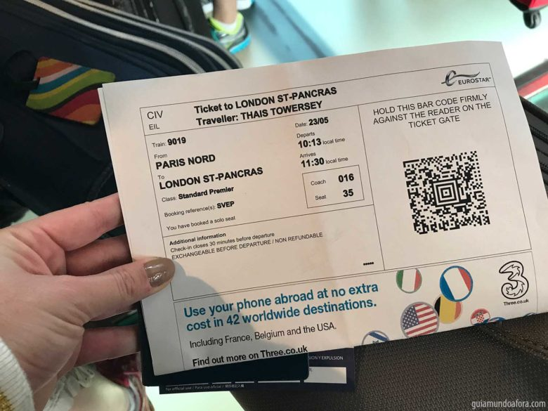 Ticket Eurostar