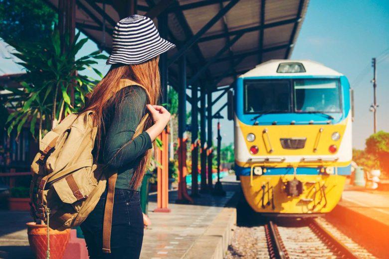 viagem de trem na Europa