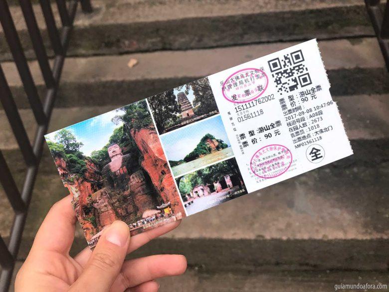entrada do Buda de Leshan Preço