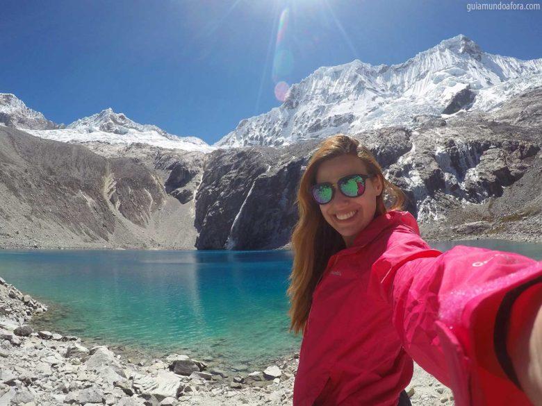 trilha da Laguna 69 no Peru