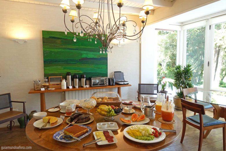 café da manhã hotel romântico em Monte verde