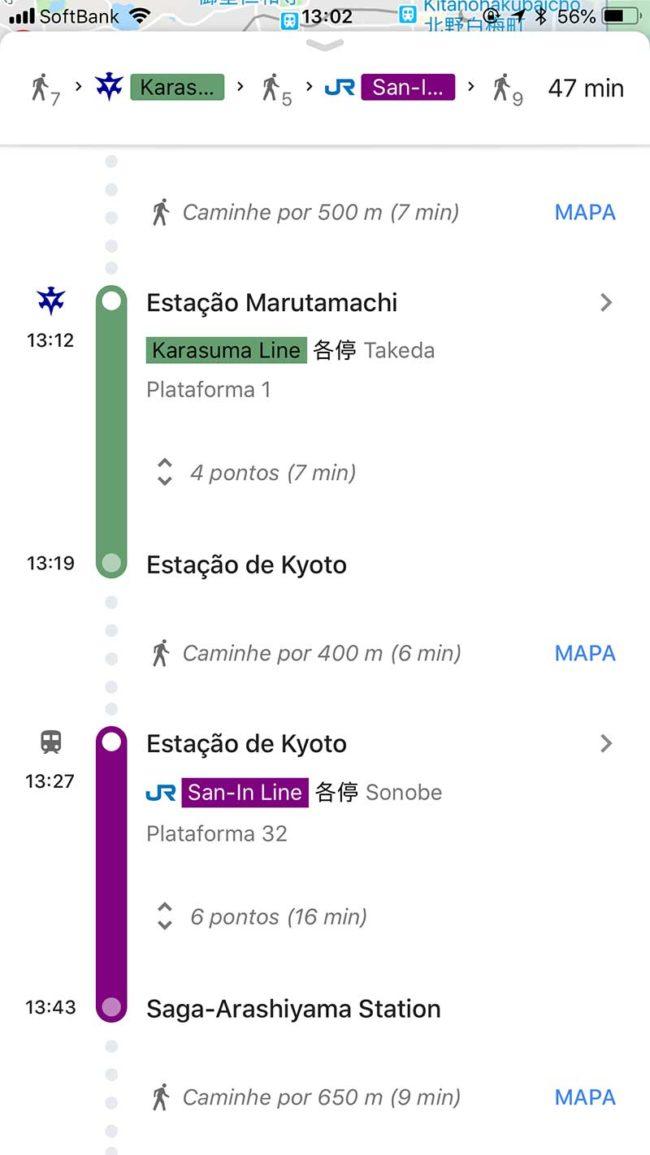 google maps no Japão