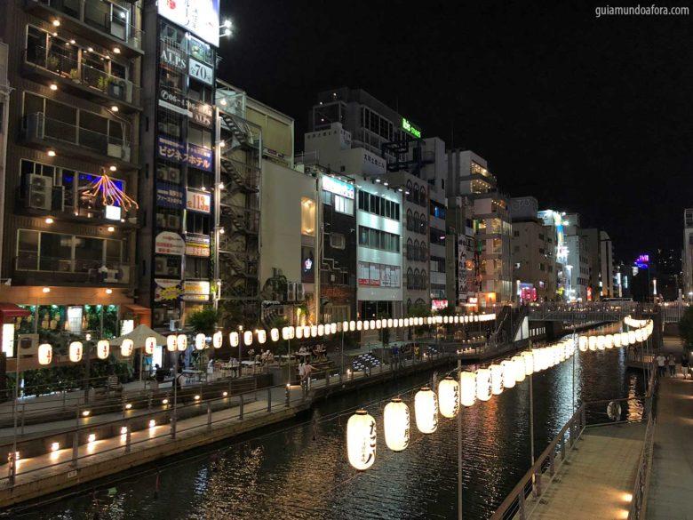 Rio Dotonbori em Osaka no Japão
