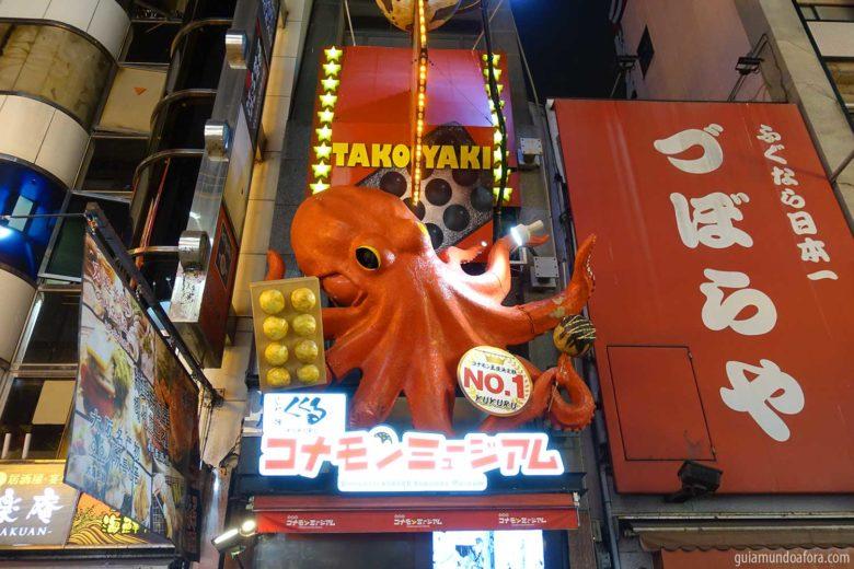 Takoyaki em Osaka