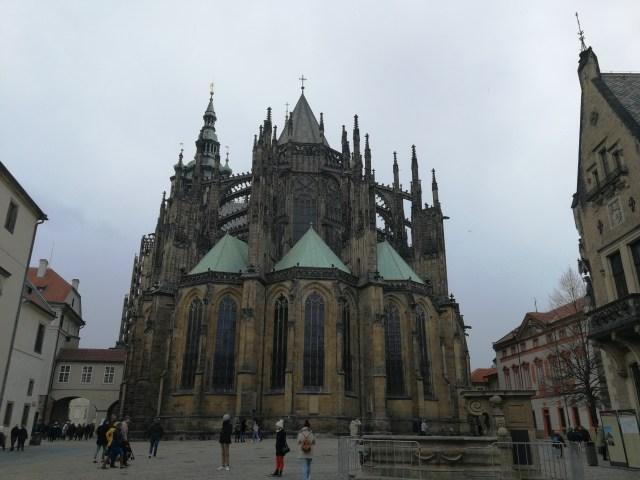 Basílica de San Jorge, en el interior del recinto del Castillo de Praga.
