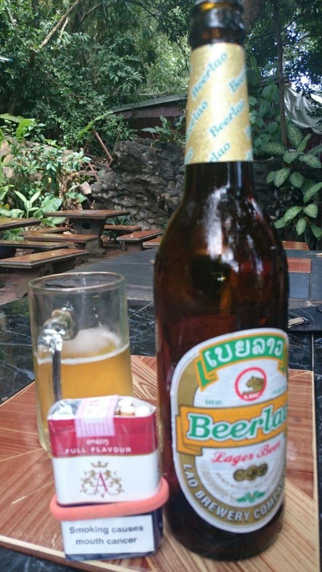 Beerlao, la cerveza del país.