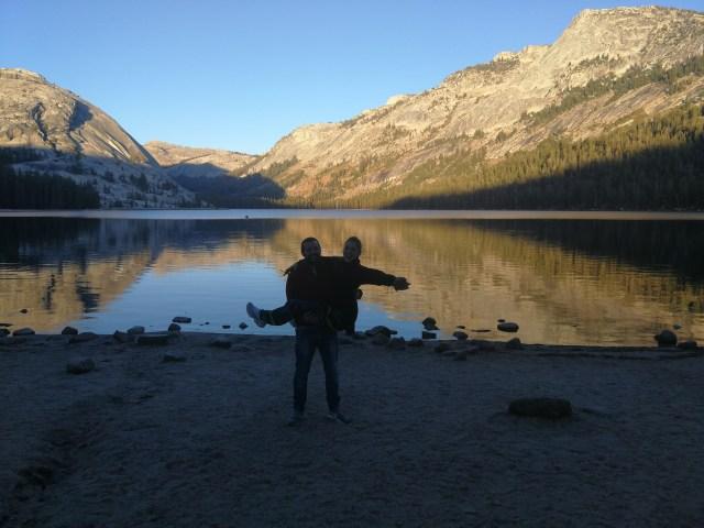 El atardecer en Yosemite, digno de ver.