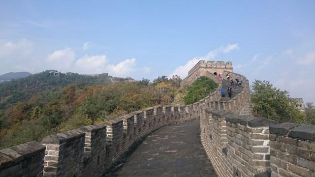 6 m. de ancho mide este tramo de la Gran Muralla China.