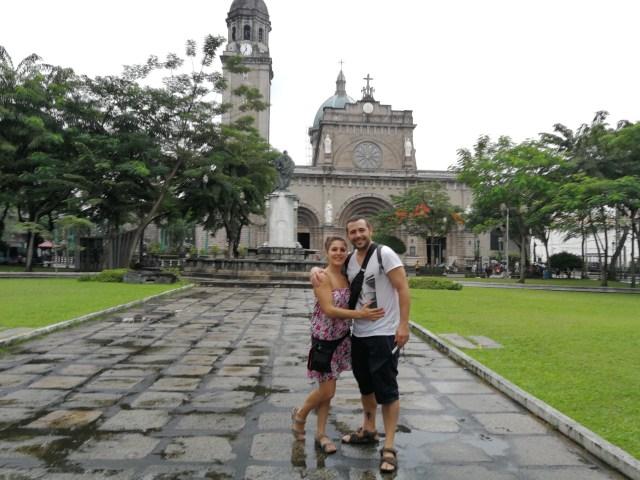 La Catedral de Manila, en la Plaza de Roma.