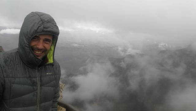 Aun teniendo mapa no era el mejor día para visitar el Gran Cañón del Colorado.