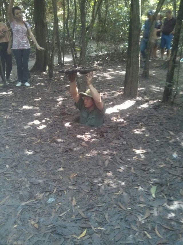Mini escondite de la guerra de Vietnam.
