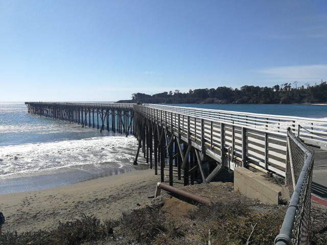 San Simeon ofrece playas tranquilas, y su muelle no es menos.