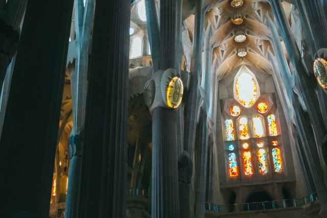 las vidrieras de la sagrada familia
