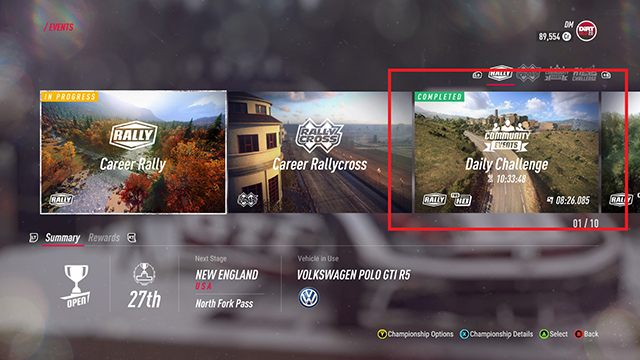 1 - How to earn credits as quickly as possible in DiRT Rally 2.0? - FAQ - DiRT Rally 2.0 Guide