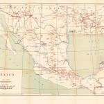 Mapa de ferrocarriles de México 1919