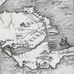 Mapa siglo XVI de Costa Rica y zonas aledañas