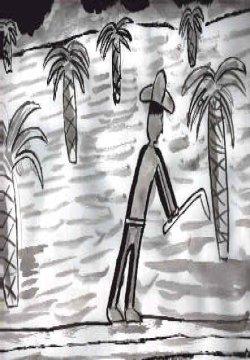 Dibujo de un liniero trabajando
