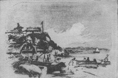 Toma de los vapores del río y lago, Castillo Viejo y el fuerte de San Carlos