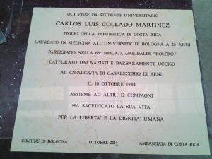 Inaugurado una placa en memoria del partisano Carlos Luis Collado Martínez