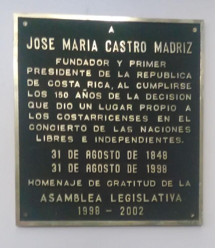 Resultado de imagen para biografía de jose maria castro madriz
