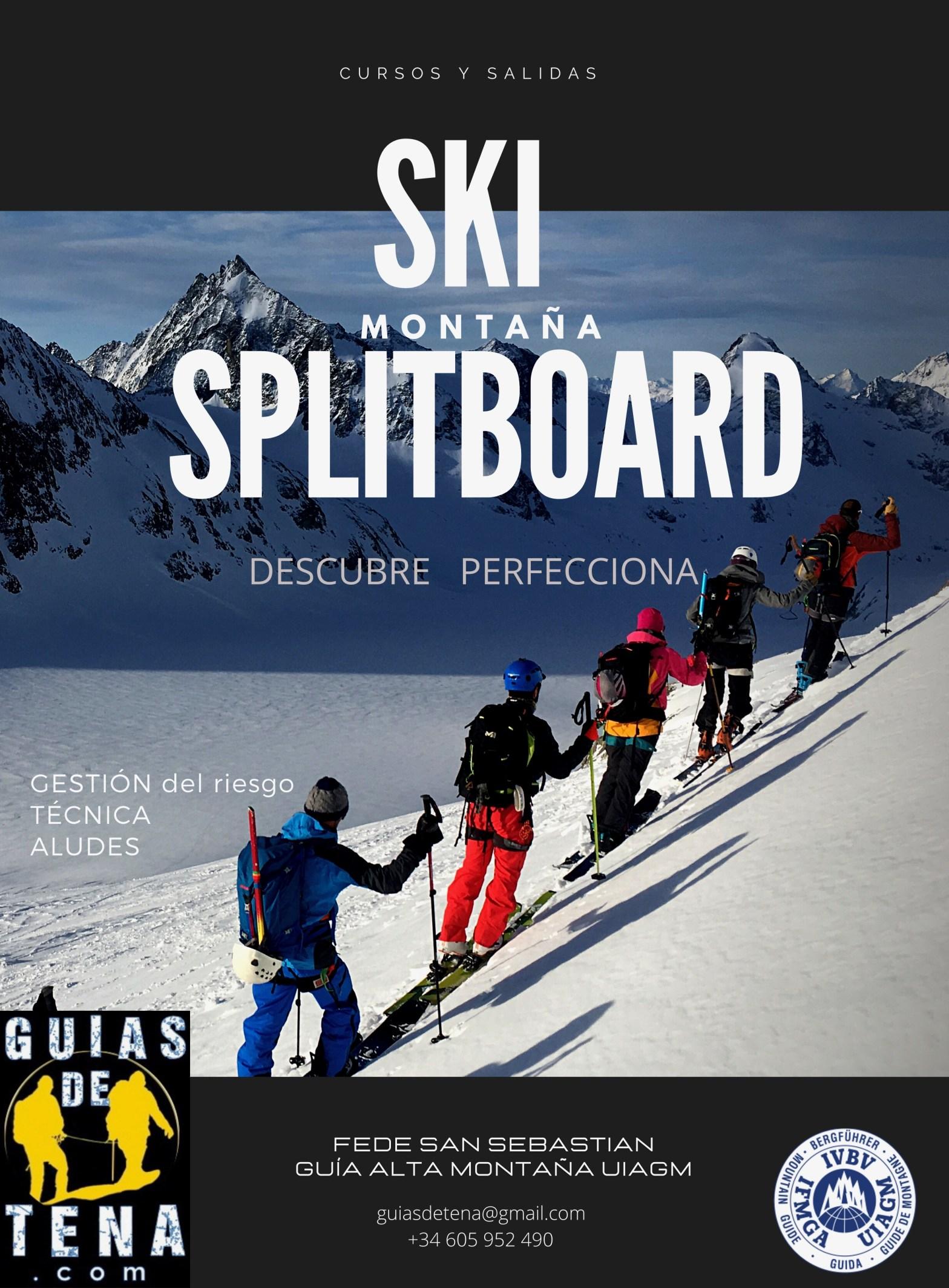 Cursos y salidas guiadas esquí de montaña y splitboard pirineos
