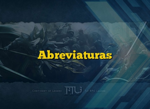 Abreviaturas