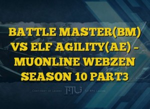 BATTLE MASTER(BM) VS ELF AGILITY(AE) – MUONLINE WEBZEN SEASON 10 PART3