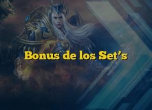Bonus de los Set's