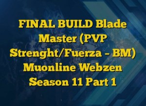 FINAL BUILD Blade Master (PVP Strenght/Fuerza – BM) Muonline Webzen Season 11 Part 1