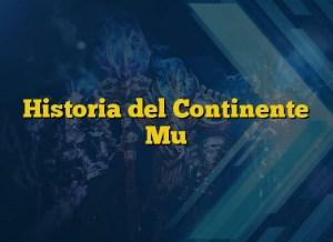 Historia del Continente Mu