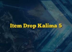 Item Drop Kalima 5