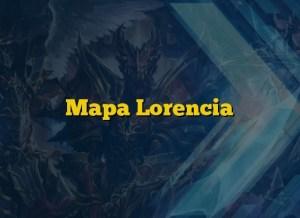 Mapa  Lorencia