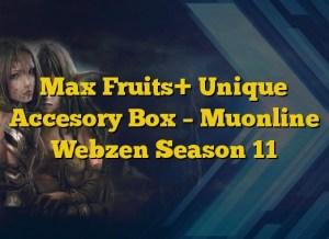 Max Fruits+ Unique Accesory Box – Muonline Webzen Season 11
