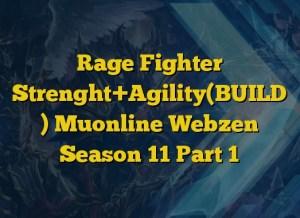 Rage Fighter Strenght+Agility(BUILD ) Muonline Webzen Season 11 Part 1