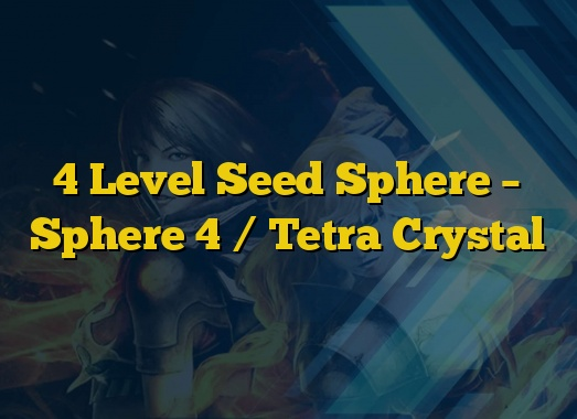 4 Level Seed Sphere – Sphere 4 / Tetra Crystal