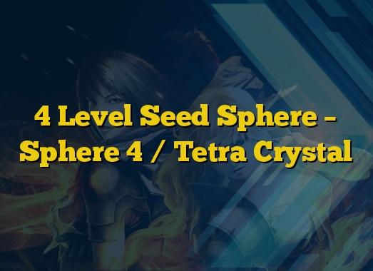 4 Level Seed Sphere – Sphere 4 / Tetra Crystal