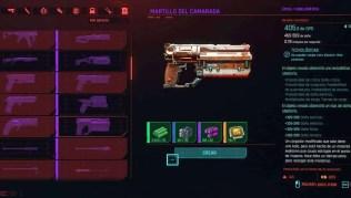 Cyberpunk 2077 Cómo conseguir la pistola tecnológica Martillo del Camarada