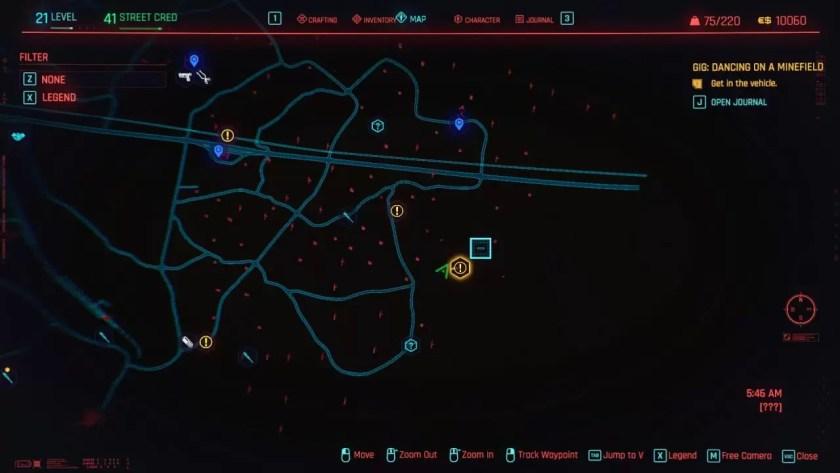 Cyberpunk 2077 Cómo cultivar XP de ingeniería