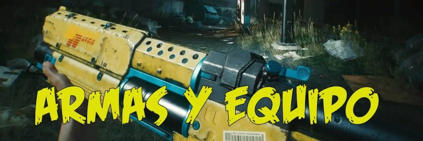 todo sobre las armas de cyberpunk 2077