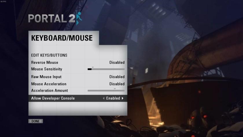 Portal 2: comandos y trucos de la consola