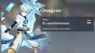 Genshin Impact Todos los recuerdos en el encuentro con Chongyun: El cazafantasmas