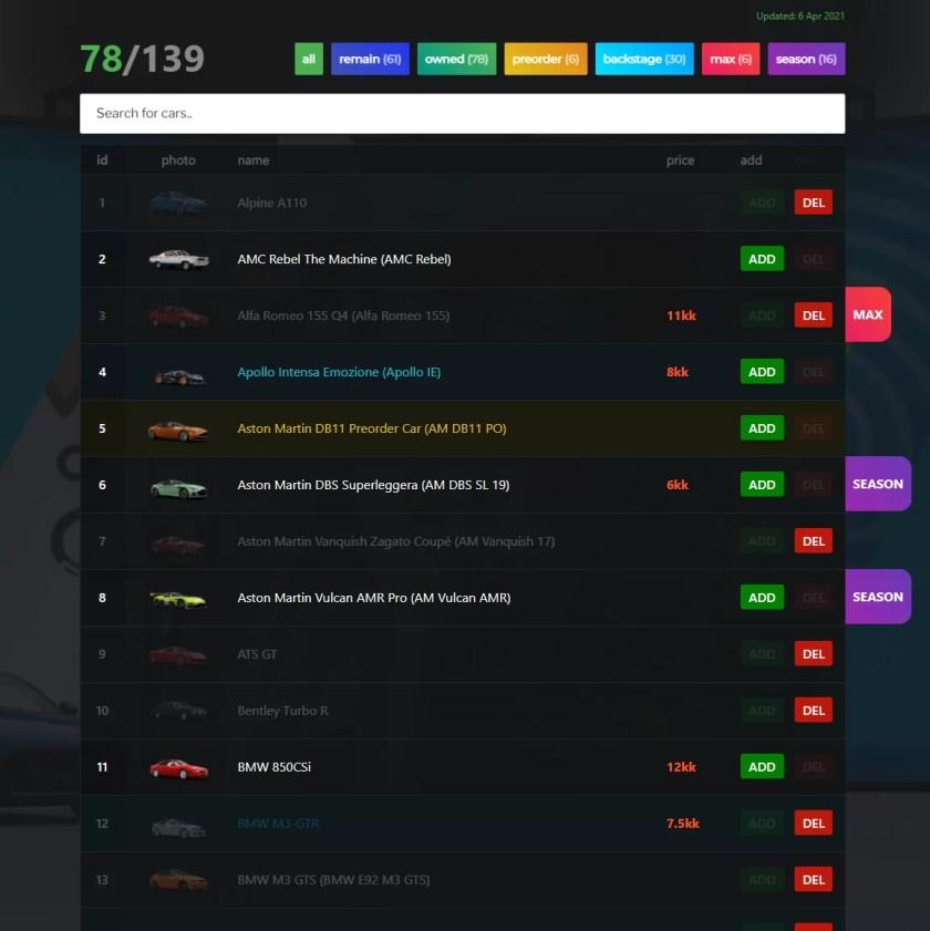 Lista completa de autos más raros de Forza Horizon 4 (difícil de encontrar)