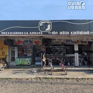 Carnicería Multicarnes la Azulita plaza de mercado fachada