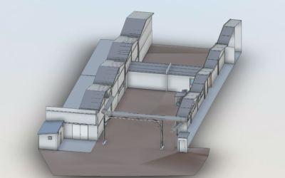 Modélisation 3D d'un bâtiment industriel