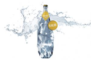 LL'acqua Evienne venduta a 16,99 alla bottiglia, foto Sportello dei diritti