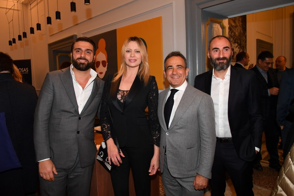 Anna Falchi all'evento di Jonas Immobiliare a Roma