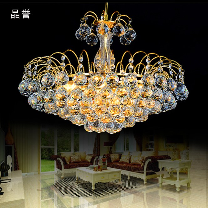 European Crystal Chandelier Modern Living Room Dining Gold Bedroom Study Aids