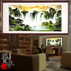 Painting For Living Room Feng Shui Paint Color 2018 Buy Large Outdoor Landscape Murals 3d Chinese Tile Backdrop Wall Pictures Of Chairman Mao In Cheap Price On